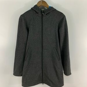 Athleta Redwood Grey Hooded Full Zip Jacket